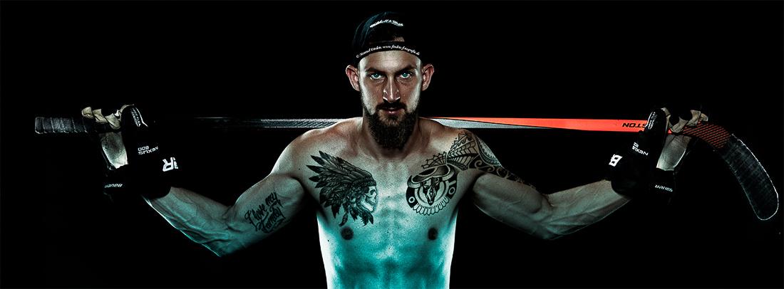 Sportler Portrait Eishockeyspieler