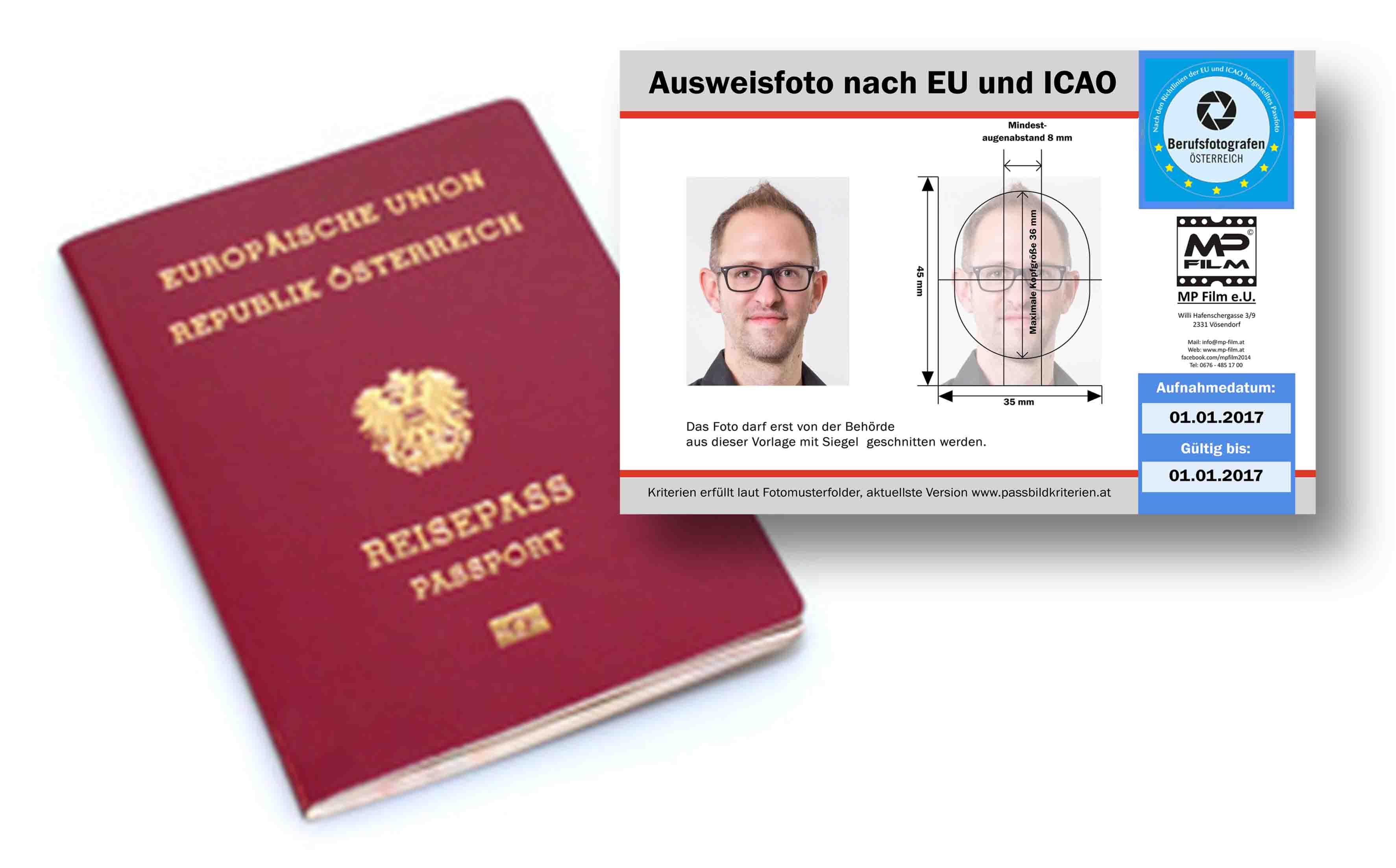 EU Passbilder | MP-Film & Fotografie